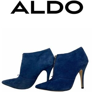 Aldo Sherly suede ankle boots sky blue size 9